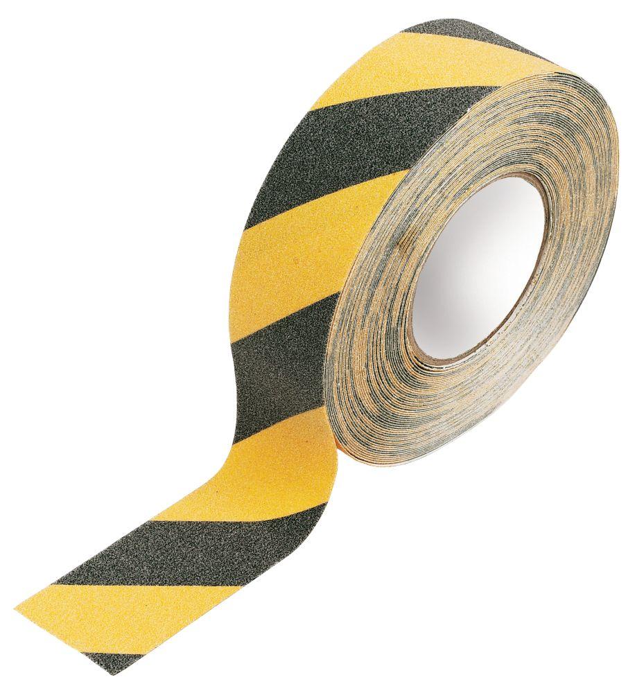 No Nonsense Anti-Slip Tape Black/Yellow 50mm x 18m