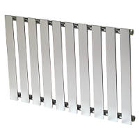 Reina Pienza Horizontal  Designer Radiator Chrome 550 x 825mm