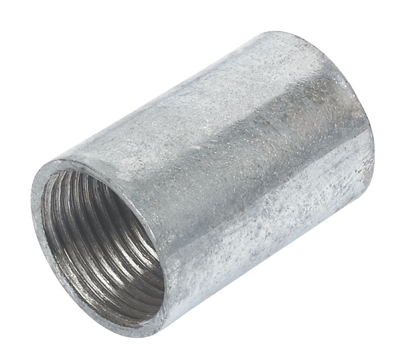 20mm Galvanised Coupler - Pk10