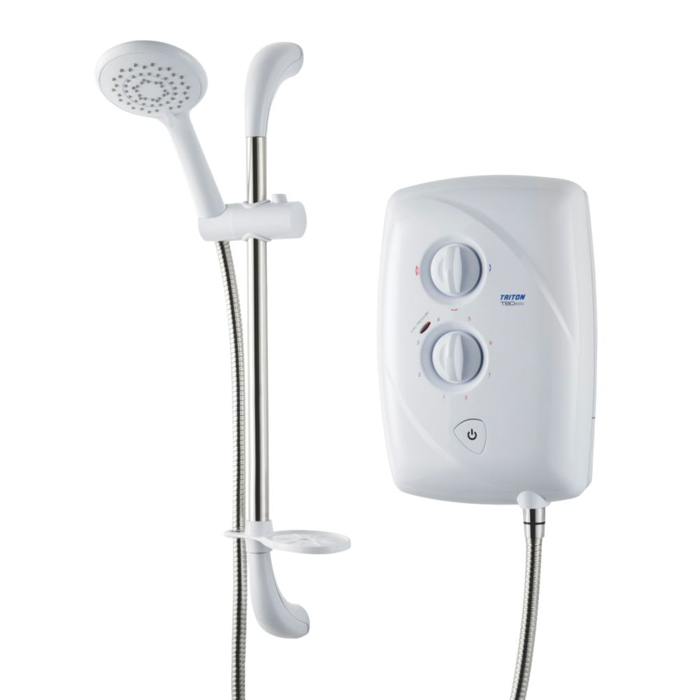 Triton T80 Easi-Fit Manual Electric Shower White 10.5kW