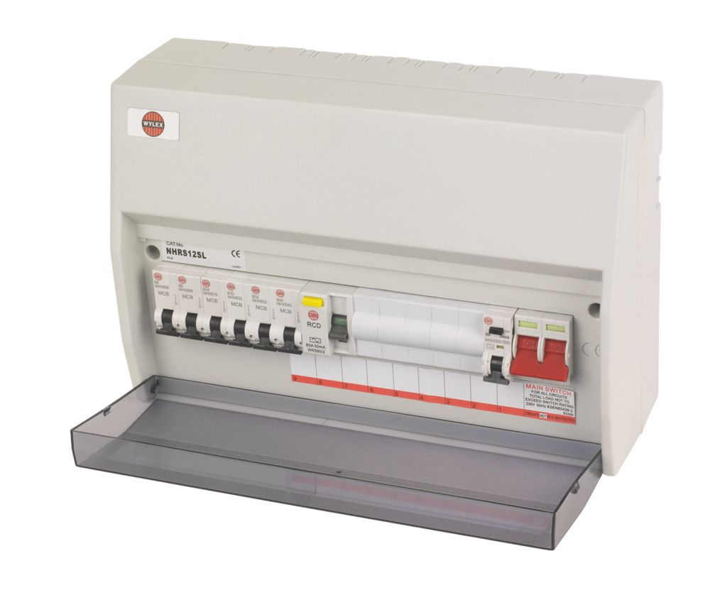 Wylex 12-Way Split Load Consumer Unit & Devices