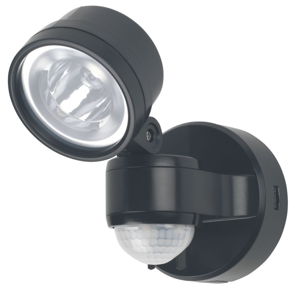 LAP 5.7W LED PIR Floodlight with Photocell Black 230V