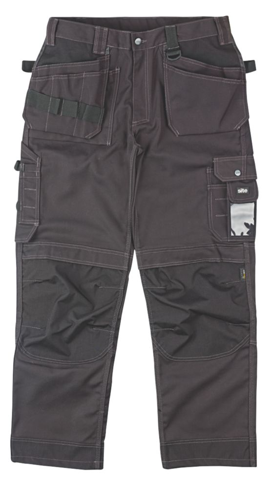 "Site Mastiff Work Trousers Black 32"" W 32"" L"