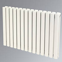 Reina Neva Horizontal Double-Panel Designer Radiator White 550 x 1003mm