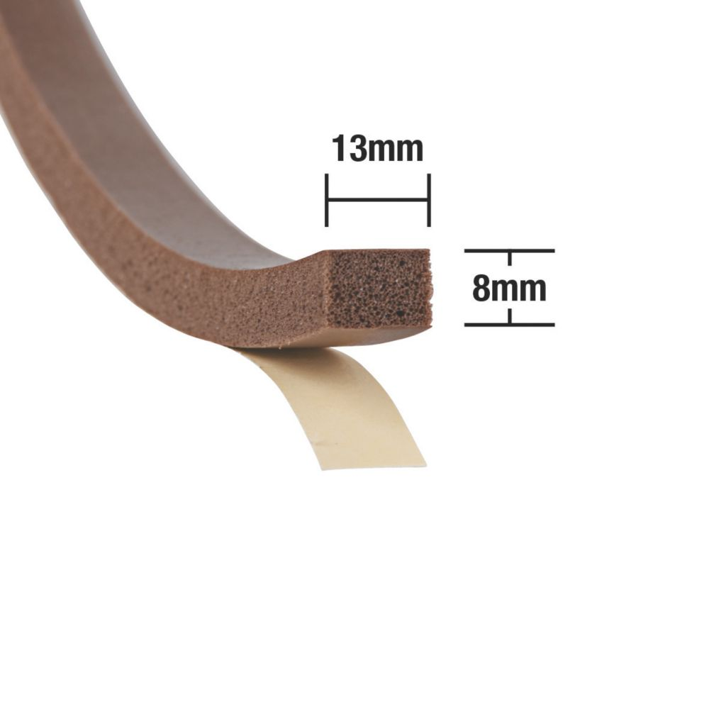 Extra Thick Weatherstrip 10mm x 7m Brown