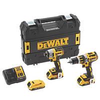 DeWalt DCK2510D3-GB 18V 2.0Ah Li-Ion XR Brushless Combi Drill & Impact Driver