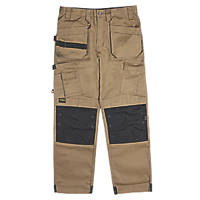 "DeWalt Pro Tradesman Work Trousers Tan 40"" W 31"" L"