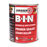 Zinsser B-I-N Shellac-Based Primer Sealer White 1Ltr