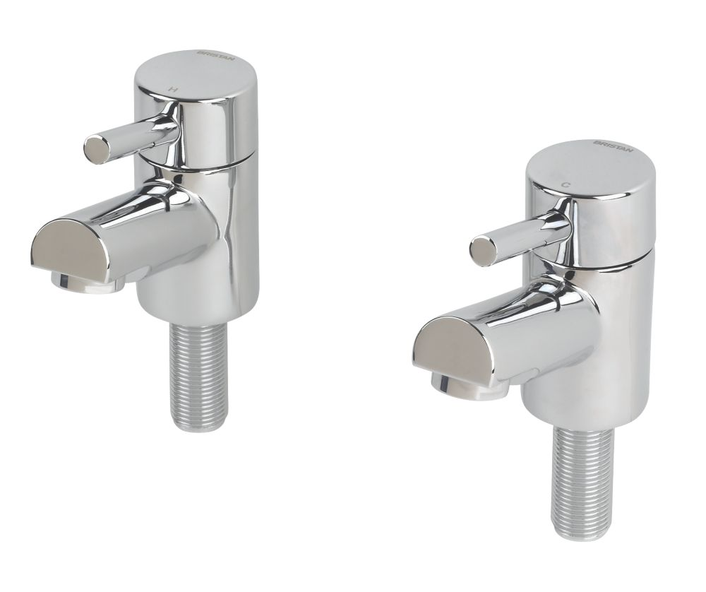 Bristan Prism Bathroom Basin Taps Pair