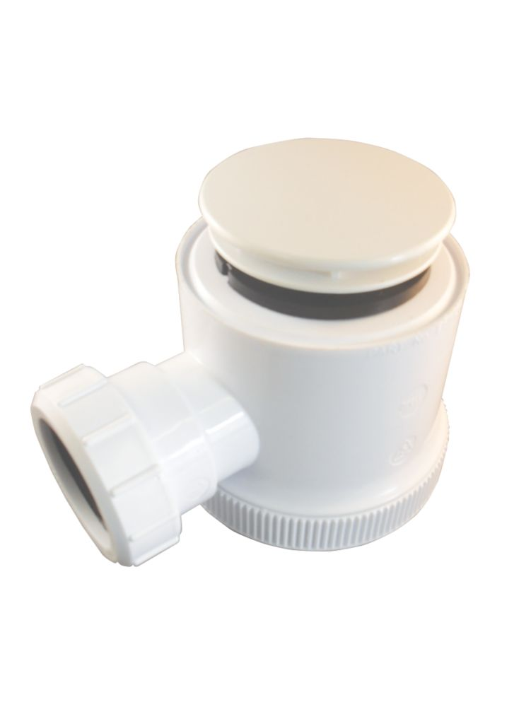 White Domed Shower Trap