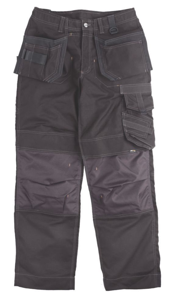 "Scruffs Pro Action Trousers Black 40"" W 31"" L"