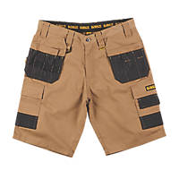 "DeWalt Ripstop Multi-Pocket Shorts Tan / Black 36"" W"