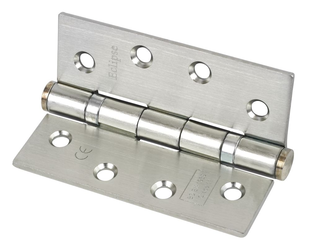 Grade 11 Ball Bearing Hinge Nickel Plated 102 x 76mm Pack of 3