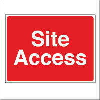 """""""Site Access"""" Sign 450 x 600mm"""