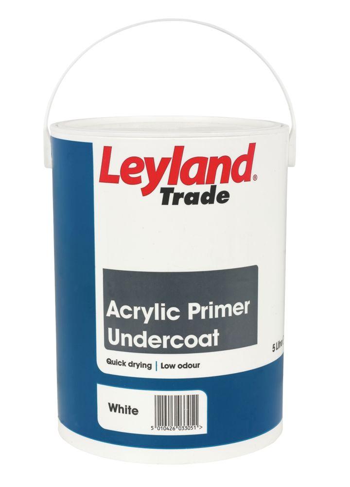 Leyland Acrylic Primer Undercoat White 5Ltr