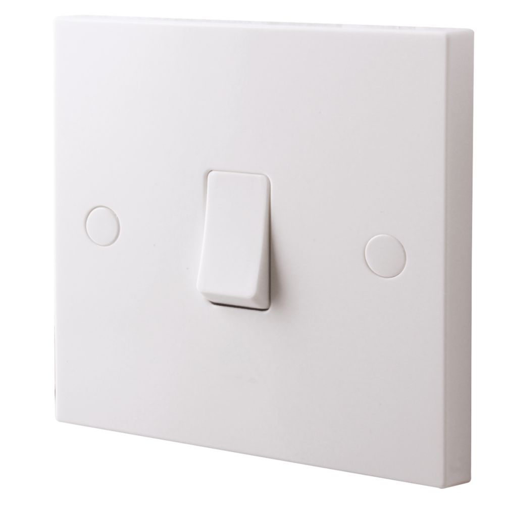 British General 1-Gang 2-Way 10AX Light Switch White