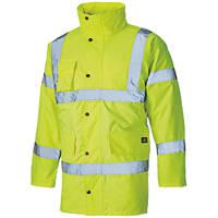 """Dickies  Hi-Vis Motorway Jacket Saturn Yellow Medium 42"""" Chest"""