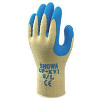 Showa GP-KV1 Cut-Resistant Gloves Yellow/Blue Medium