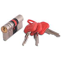 ERA Euro Double Cylinder Door Lock 45-50 (95mm) Satin Nickel/Brass