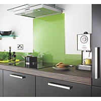 Impact Glass Lime Self-Adhesive Glass Upstand 1000 x 140 x 6mm