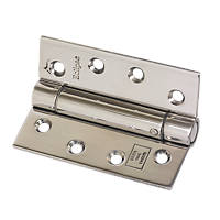 Eclipse Adjustable Self-Closing Hinges Pol. Stainless Steel 76 x 102mm 2 Pack
