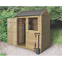 Forest 6' x 4' (Nominal) Apex Overlap Timber Shed with Assembly