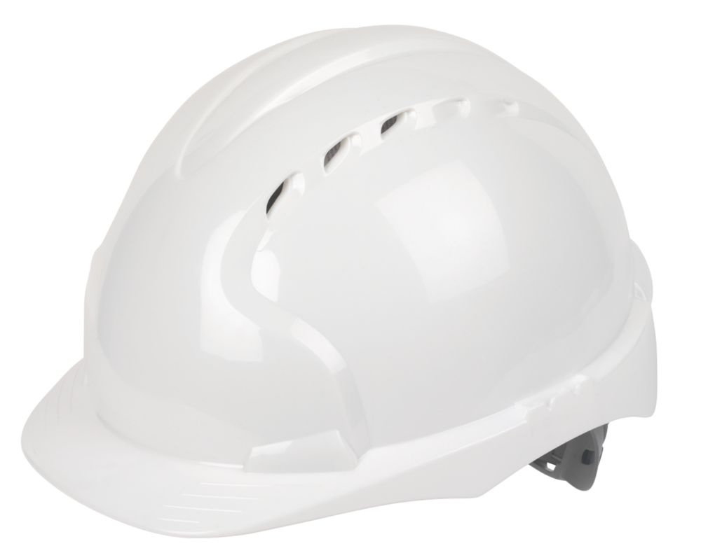 JSP EVO 3 Comfort Plus Adjustable Slip Vented Safety Helmet White