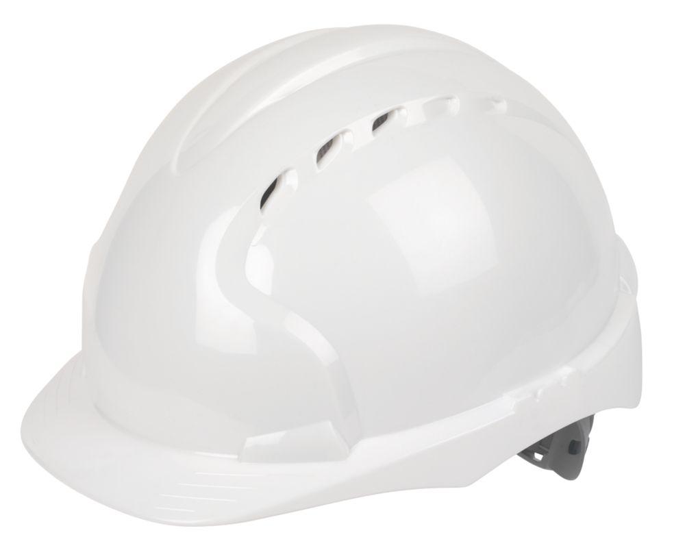 JSP EVO 3 Comfort Plus Adjustable Slip Vented Safety Helmet White