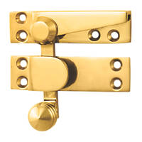 Carlisle Brass Sash Fastener Quadrant Arm Polished Brass 70mm x 20mm
