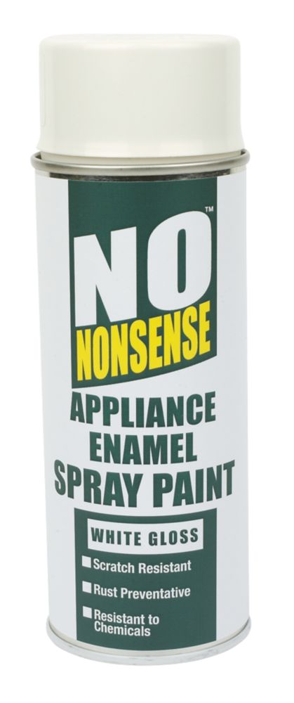 No Nonsense Appliance Enamel Spray Paint White Gloss 400ml