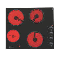 Indesit VRM 640 MC Frameless Ceramic Hob Black 520 x 590mm