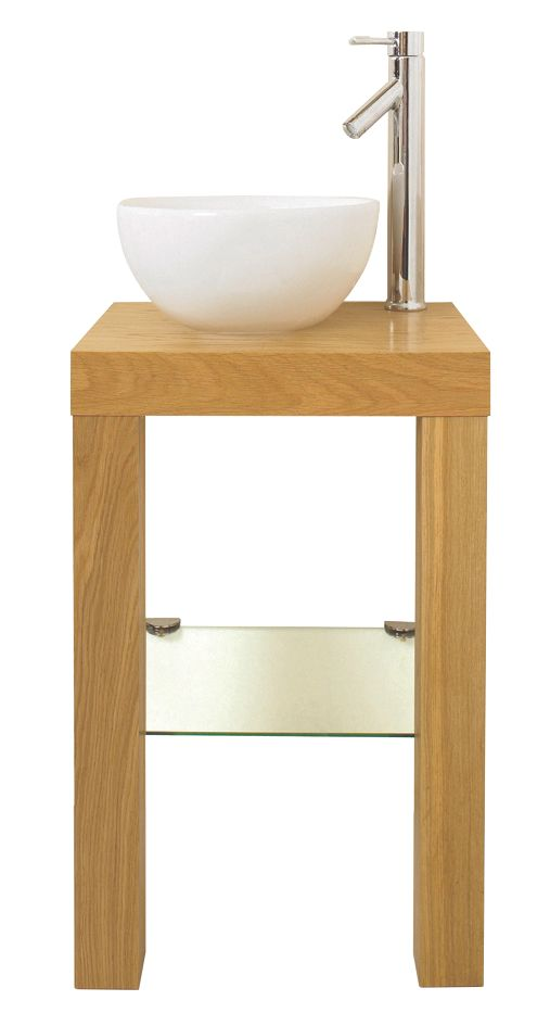Bathroom Washstand Oak Effect 450mm