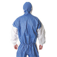 "3M 4535 Type 5/6 Disposable Coverall Blue/White Lge/X Lge 42-46"" Chest  L"