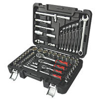 Forge Steel Mixed Socket & Wrench Set 63 Pieces