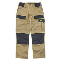 "Site Pointer Work Trousers Stone / Black 32"" W 32"" L"