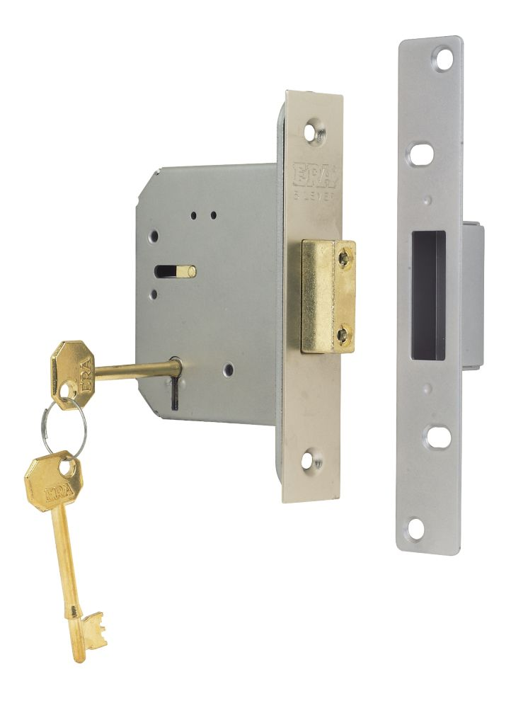 "ERA 5-Lever Mortice Deadlock Steel Satin Nickel 3"" (76mm)"