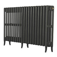 Arroll Neo-Classic 4-Column Cast Iron Radiator Pewter 660 x 1234mm