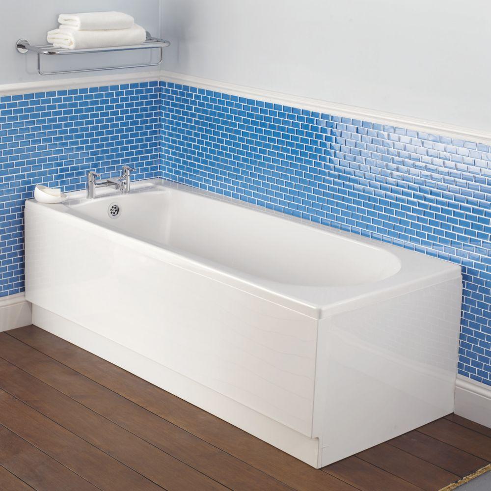 Bath End Panel White Acrylic 700mm
