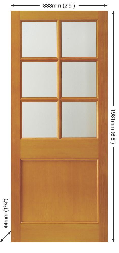 Jeld-Wen 6-Light Double-Glazed Exterior Door Unfinished 838 x 1981mm