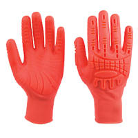 Ansell Activarmr MadGrip 97-321R Impact Protection Grip Gloves Orange Large