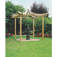 Grange Dragon  Pergola  2.7 x 2.7 x 3.25m Pressure Treated Green Timber