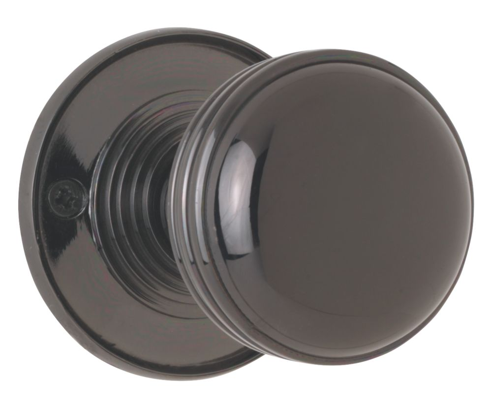 Jedo Mortice Knobs Pair Black Nickel