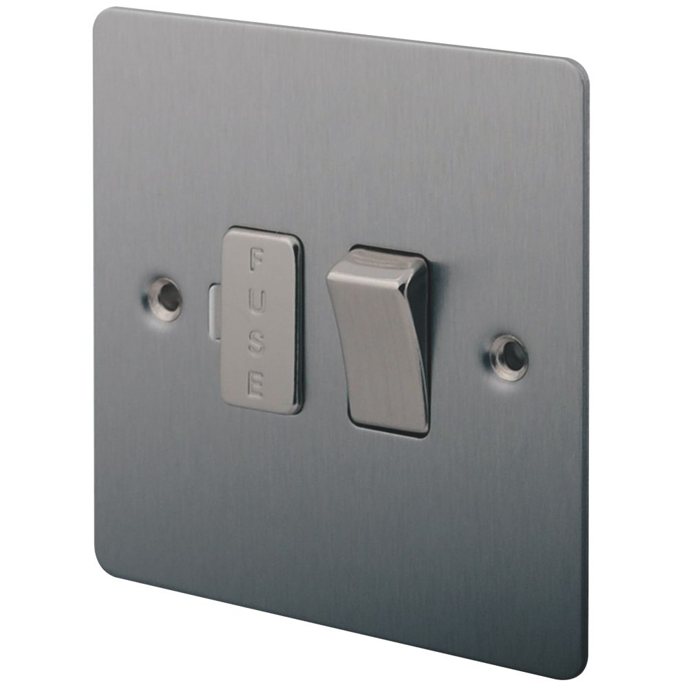 LAP 13A Switched Fused Connection Unit Brushed Stainless Steel