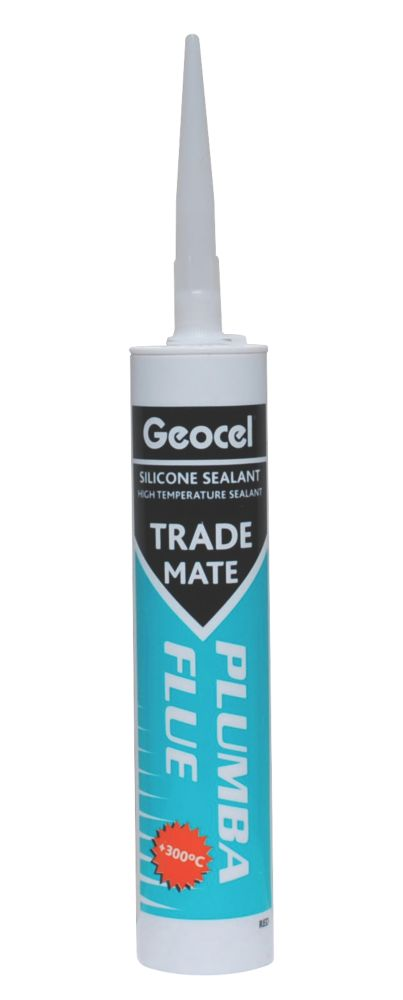 Geocel Trade Mate Plumba Flue Silicone Red 310ml