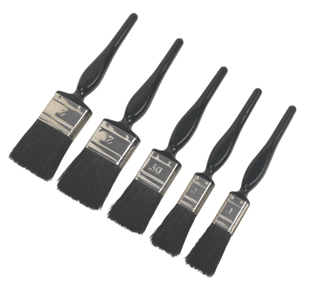 No Nonsense Pure Bristle Paintbrushes 5 Piece Set