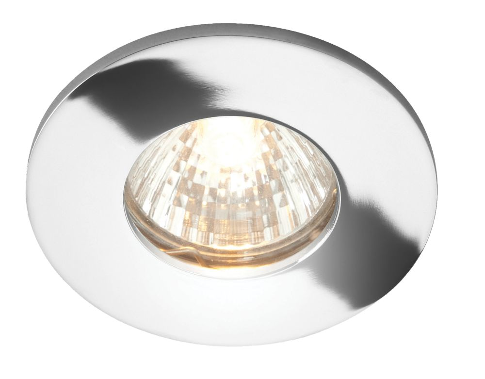 Fixed Polished Chrome 12V Low Voltage Bathroom Downlight
