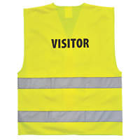"Hi-Vis Visitors Waistcoat Yellow Small / Medium 36-41"" Chest"