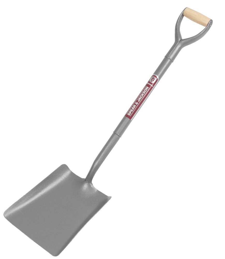 Spear & Jackson Square Mouth No2 All Steel Shovel 10""