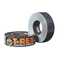 T-Rex Ferociously Strong Cloth Tape Graphite Grey 48mm x 32m