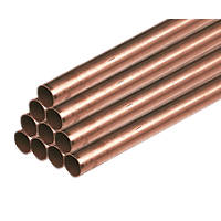 Wednesbury Copper Pipe 15mm x 2m 10 Pack